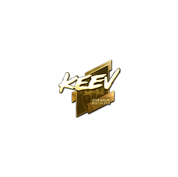 Sticker | keev (Gold) | Boston 2018