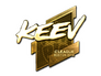 Skin Sticker | keev (Gold) | Boston 2018