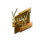 Sticker | kNgV- (Gold) | Boston 2018