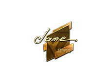 Skin Sticker | Jame (Gold) | Boston 2018