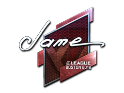 Sticker | Jame (Foil) | Boston 2018
