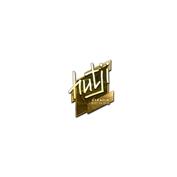 Sticker | hutji (Gold) | Boston 2018