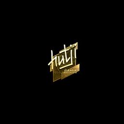 Sticker | hutji (Gold) | Boston 2018