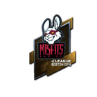Sticker | Misfits Gaming (Foil) | Boston 2018