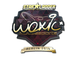 Sticker | woxic (Gold) | Berlin 2019