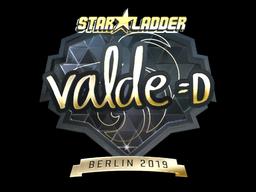 Sticker | v4lde (Gold) | Berlin 2019