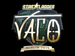 Sticker   TACO (Gold)   Berlin 2019