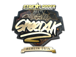 Sticker   speed4k (Gold)   Berlin 2019
