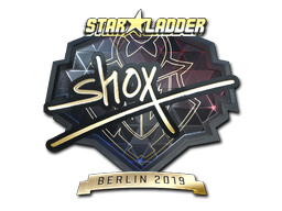 Sticker | shox (Gold) | Berlin 2019