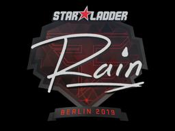 Наклейка | rain | Берлин 2019