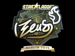 Sticker | Zeus (Gold) | Berlin 2019