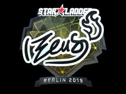 Sticker | Zeus (Foil) | Berlin 2019