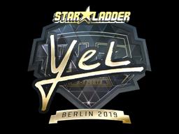 Sticker | yel (Gold) | Berlin 2019