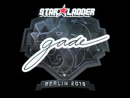 Sticker   gade (Foil)   Berlin 2019