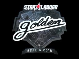 Наклейка | Golden (металлическая) | Берлин 2019