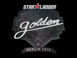 Наклейка | Golden | Берлин 2019