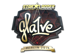 Sticker | gla1ve (Gold) | Berlin 2019
