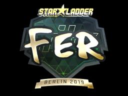 Sticker | fer (Gold) | Berlin 2019