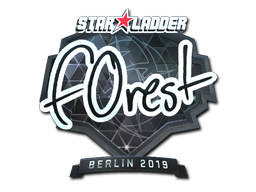 Sticker | f0rest (Foil) | Berlin 2019