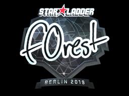 Наклейка   f0rest (металлическая)   Берлин 2019