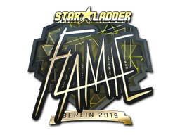 Sticker | flamie (Gold) | Berlin 2019