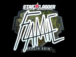 Наклейка | flamie (металлическая) | Берлин 2019