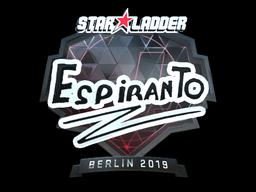 Sticker | EspiranTo (Foil) | Berlin 2019
