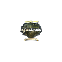 Sticker | electronic (Gold) | Berlin 2019