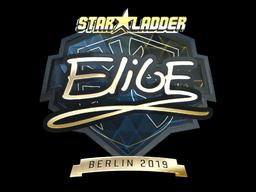 Sticker   EliGE (Gold)   Berlin 2019