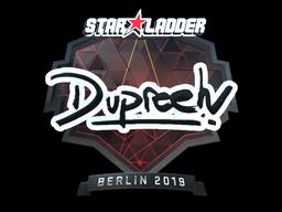 Sticker | dupreeh (Foil) | Berlin 2019