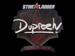 Наклейка | dupreeh | Берлин 2019