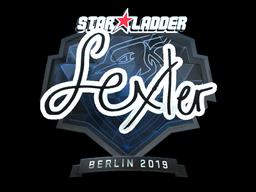 Наклейка | dexter (металлическая) | Берлин 2019