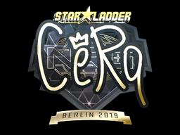 Sticker | CeRq (Gold) | Berlin 2019