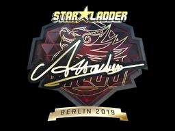 Sticker | Attacker (Gold) | Berlin 2019