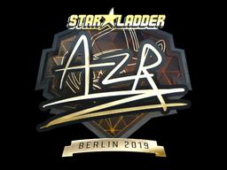 Sticker | AZR (Gold) | Berlin 2019