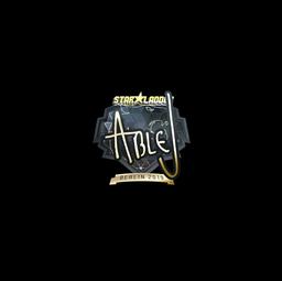 Sticker   ableJ (Gold)   Berlin 2019