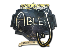 Sticker | ableJ (Gold) | Berlin 2019