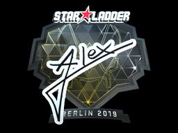 Наклейка | ALEX (металлическая) | Берлин 2019