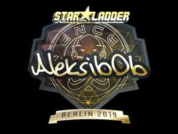 Sticker   Aleksib (Gold)   Berlin 2019