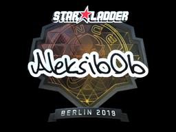 Наклейка | Aleksib (металлическая) | Берлин 2019
