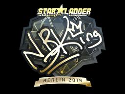Sticker   NBK- (Gold)   Berlin 2019