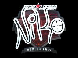 Sticker | NiKo (Foil) | Berlin 2019