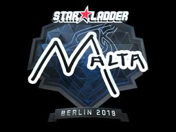 Sticker | malta (Foil) | Berlin 2019