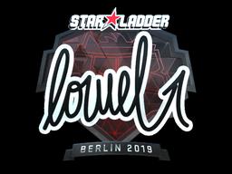 Наклейка | loWel (металлическая) | Берлин 2019