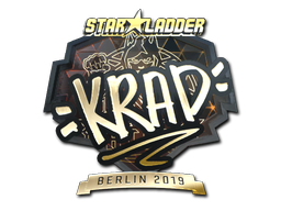 Sticker | Krad (Gold) | Berlin 2019