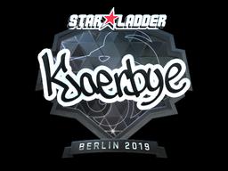 Наклейка | Kjaerbye (металлическая) | Берлин 2019