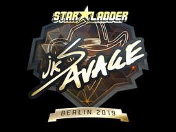 Sticker | jks (Gold) | Berlin 2019