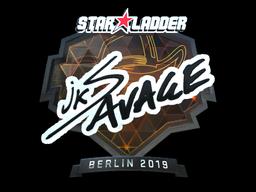 Наклейка | jks (металлическая) | Берлин 2019
