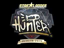 Sticker | huNter- (Gold) | Berlin 2019