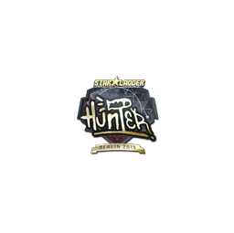 Sticker | huNter- (Gold) | Berlin 2019